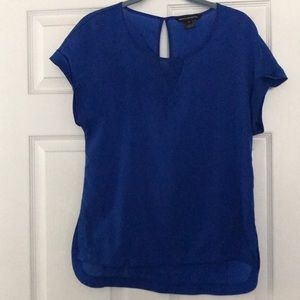 Bright blue short sleeve blouse